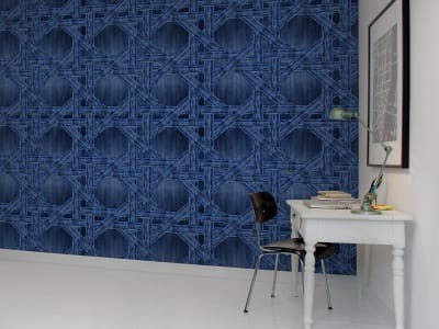 Wall Mural R13561 Denim Trellis image 1 by Rebel Walls