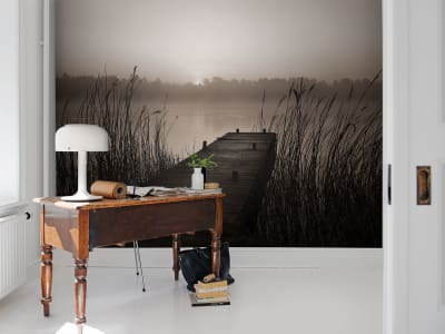 Mural de pared R13581 Misty Lake imagen 1 por Rebel Walls
