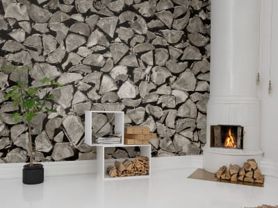 Tapet R13641 Woodpile bilde 1 av Rebel Walls