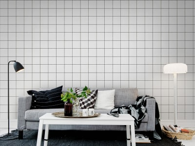 Mural de pared R13741 Square Tiles imagen 1 por Rebel Walls