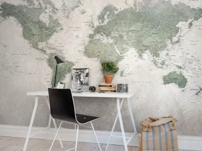 Mural de pared R13901 School Atlas imagen 1 por Rebel Walls