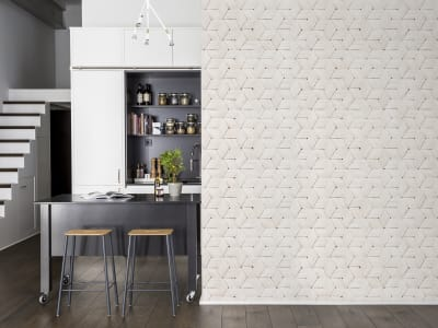 Tapetl R13932 Birch Bark Braids, White bild 1 från Rebel Walls