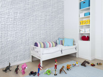 Wall Mural R14022 Note Sheets, Baby Blue image 1 by Rebel Walls