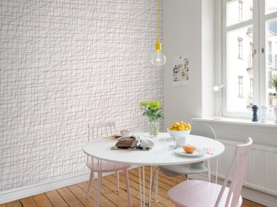 Mural de pared R14023 Note Sheets, Soft Pink imagen 1 por Rebel Walls