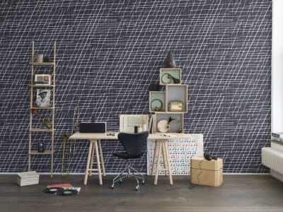 Murale R14024 Note Sheets, Denim ​​immagine 1 di Rebel Walls