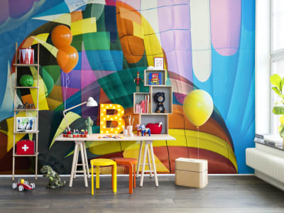 Mural de pared R14051 Ballons Flying High imagen 1 por Rebel Walls