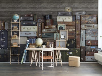 Wall Mural R14062 Stacked Suitcases, Heap image 1 by Rebel Walls