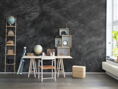 Murale R14072 Elevation Lines, Black ​​immagine 1 di Rebel Walls