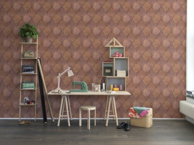 Tapet R14121 Leather Rhombs bilde 1 av Rebel Walls