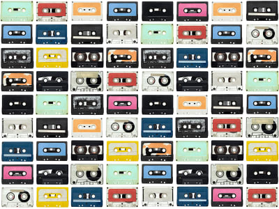 Wall Mural R11042 Mixed Tape image 1 by Rebel Walls