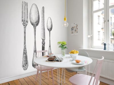 Mural de pared R11791 Cutlery imagen 1 por Rebel Walls