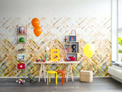 Mural de pared R12891 Dream Weaver, yellow imagen 1 por Rebel Walls