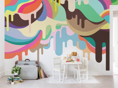 Tapet R14521 Dripping Ice Cream bilde 1 av Rebel Walls
