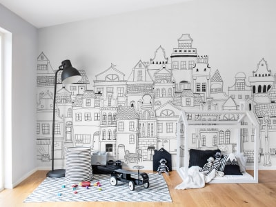 Mural de pared R14601 London Houses imagen 1 por Rebel Walls