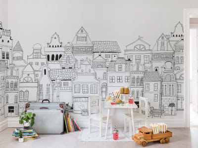 Décor Mural R14601 London Houses image 1 par Rebel Walls