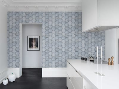 Wall Mural R14801 Concrete Hexagon image 1 by Rebel Walls