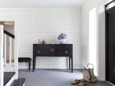 Mural de pared R14862 Bistro Tiles, White imagen 1 por Rebel Walls