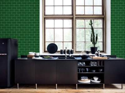 Tapet R14863 Bistro Tiles, Green bilde 1 av Rebel Walls