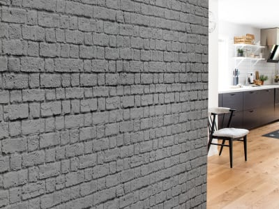 Wall Mural R14872 Soft Bricks, Grey image 1 by Rebel Walls