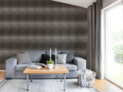 Tapet R14941 Riveted Tiles bilde 1 av Rebel Walls