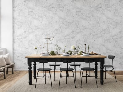 Tapete R14682 Noble Marble, White Bild 1 von Rebel Walls