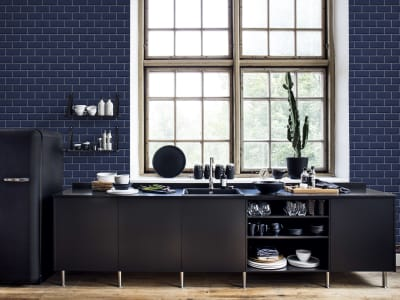 Tapet R14864 Bistro Tiles, Royal Blue bilde 1 av Rebel Walls