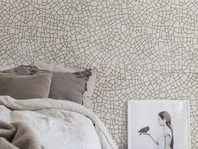 Mural de pared R14671 Raku Crackle, Cream imagen 1 por Rebel Walls
