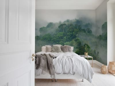Mural de pared R15062 Misty Forest imagen 1 por Rebel Walls