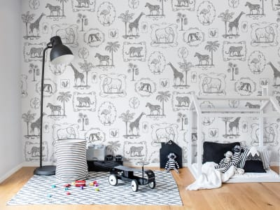 Mural de pared R15271 Animal Party imagen 1 por Rebel Walls
