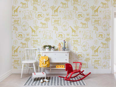 Tapete R15272 Animal Party, Yellow Bild 1 von Rebel Walls