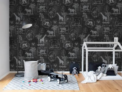 Tapet R15273 Animal Party, Blackboard bilde 1 av Rebel Walls