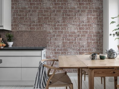 Tapet R15231 Decorated Bricks, Red bilde 1 av Rebel Walls