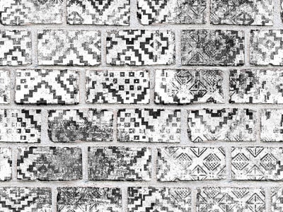 ミューラル壁紙 R15232 Decorated Bricks 画像 1 by Rebel Walls