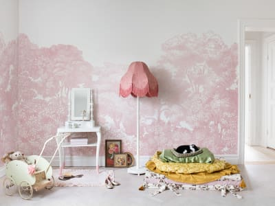 Mural de pared R13057 Bellewood, Pink imagen 1 por Rebel Walls