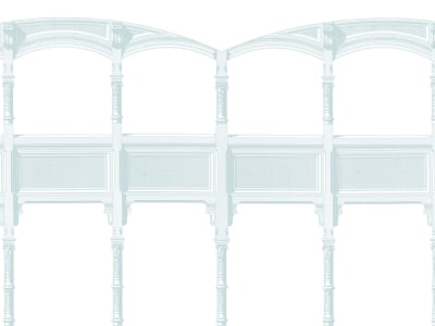 Tapet R15492 AIRY ARCHES, OXYGEN bilde 1 av Rebel Walls