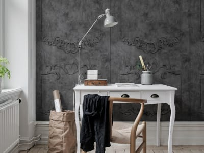 Murale R15462 NOBLE FLAIR, NOIR ​​immagine 1 di Rebel Walls