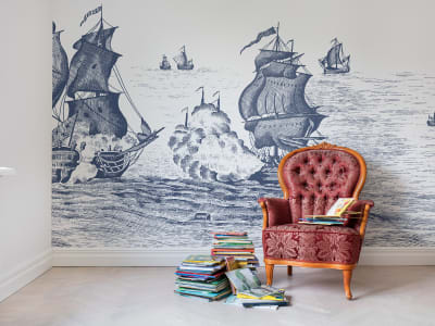 Mural de pared R14503 High Seas, Henderson Blue imagen 1 por Rebel Walls