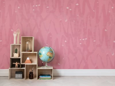 Mural de pared R14095 PULSE OF PASSION, PINK imagen 1 por Rebel Walls