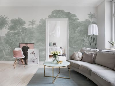 Mural de pared R14613 JUNGLE LAND, VERDANT imagen 1 por Rebel Walls