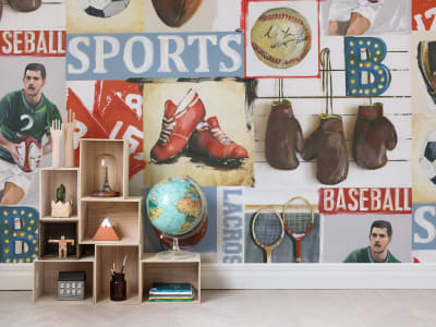 Mural de pared R15561 SPORTS JUNKIE imagen 1 por Rebel Walls