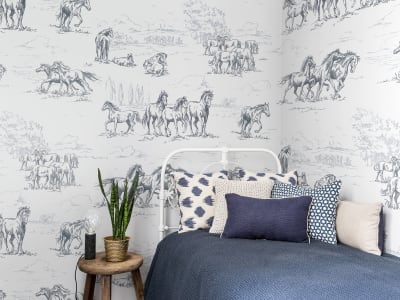 Mural de pared R15591 HORSE HERD imagen 1 por Rebel Walls