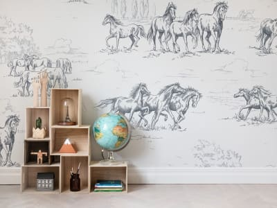 Wall Mural R15591 HORSE HERD image 1 by Rebel Walls