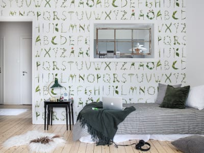 Mural de pared R13195 Floral Alphabet imagen 1 por Rebel Walls