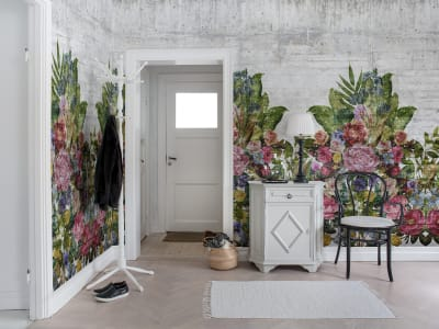 Tapete R15762 Flower Burst, Concrete Bild 1 von Rebel Walls