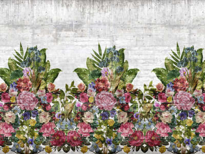 Mural de pared R15762 Flower Burst, Concrete imagen 1 por Rebel Walls