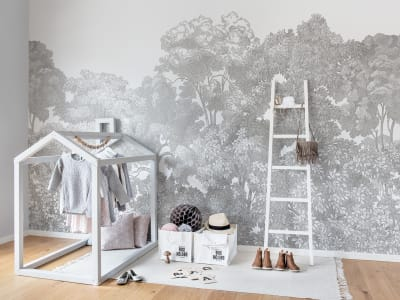 ミューラル壁紙 R13054 Bellewood, Grey Toile 画像 1 by Rebel Walls