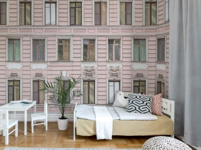 Wall Mural R15881 Pink Facade image 1 by Rebel Walls