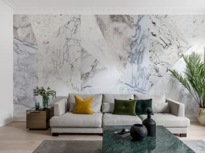 Mural de pared R13426 Big Diamond, Marble imagen 1 por Rebel Walls
