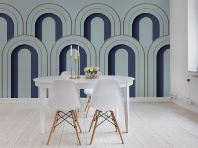 Mural de pared R16102 Arch Deco, Blue imagen 1 por Rebel Walls