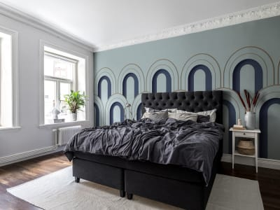 Tapetl R16102 Arch Deco, Blue bild 1 från Rebel Walls